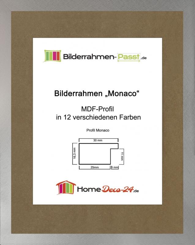 monaco mdf bilderrahmen ohne rundungen kantiger bauhausstil 1mm antir. Black Bedroom Furniture Sets. Home Design Ideas