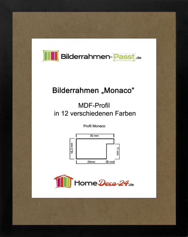 monaco mdf bilderrahmen ohne rundungen kantiger. Black Bedroom Furniture Sets. Home Design Ideas