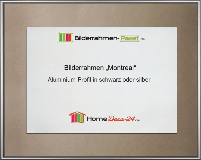 Montreal Aluminium Bilderrahmen Alu mit Rückwand und Acrylglas A