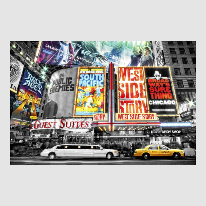 Kunstdruck Poster - New York Theater Limousine NYC USA 61 x 91,50 cm,