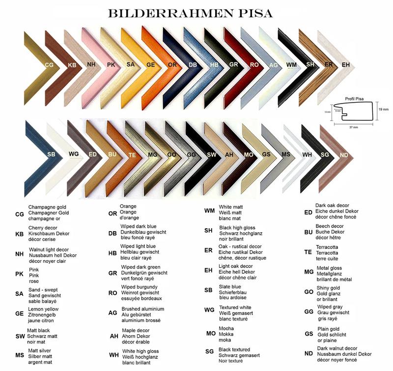 MDF - Rahmen Pisa in verschiedenen Farben und Größen - Hom