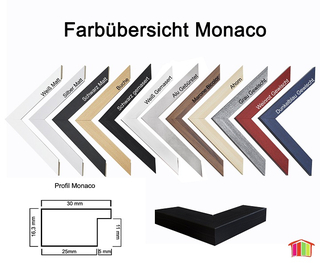Homedeco-24 Monaco MDF Bilderrahmen ohne Rundungen 30 x 30 cm Gr/ö/ße w/ählbar 30 x 30 cm Schwarz matt mit Acrylglas klar 1 mm