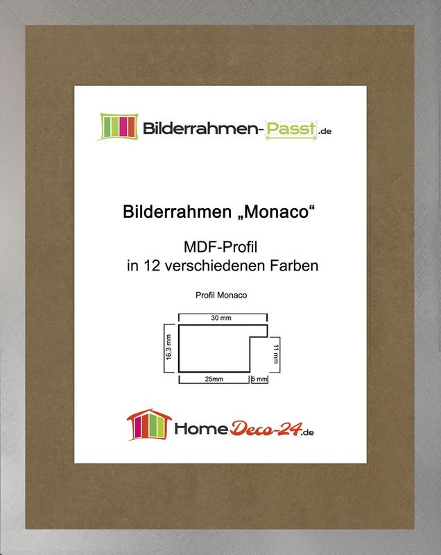 monaco mdf bilderrahmen ohne rundungen kantiger bauhausstil 1 mm anti. Black Bedroom Furniture Sets. Home Design Ideas