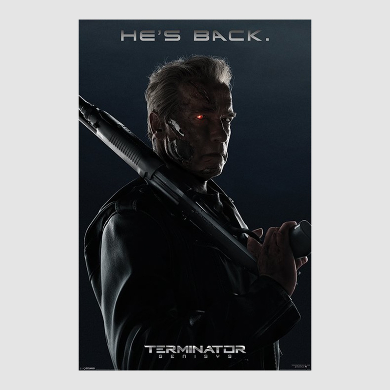 kunstdruck poster terminator 5 genisys 61 x 91 50 cm optional mit k. Black Bedroom Furniture Sets. Home Design Ideas