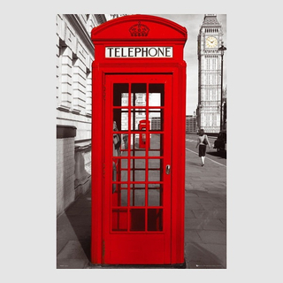 Kunstdruck Poster - London Telephone Box Big Ben Great Britain Gro&sz