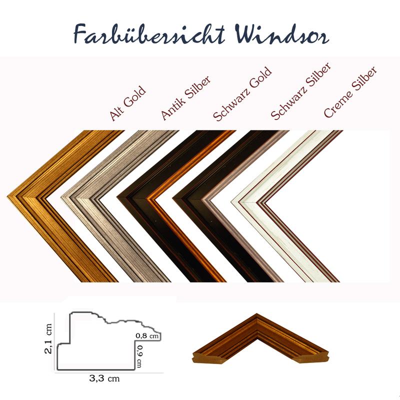 Windsor Klassik Barock Bilderrahmen Größe, Farbe und Vergl