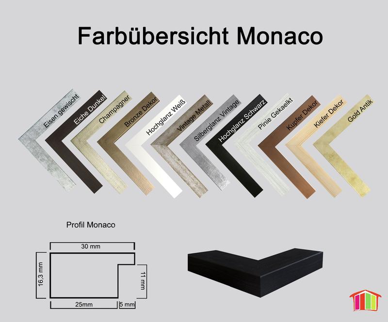 Monaco MDF Bilderrahmen ohne Rundungen kantiger Bauhausstil - HomeDec