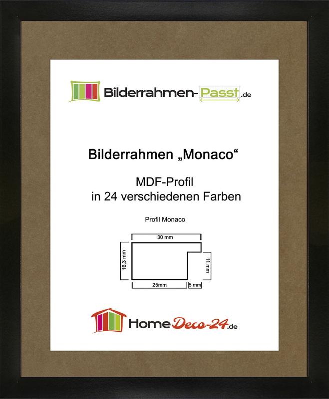 monaco mdf bilderrahmen ohne rundungen kantiger bauhausstil 1 mm norm. Black Bedroom Furniture Sets. Home Design Ideas
