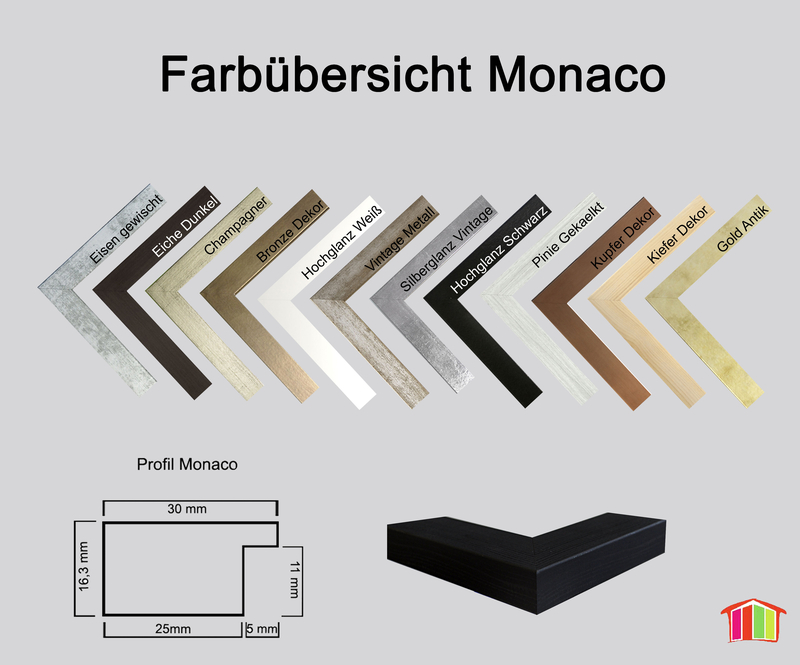 monaco mdf bilderrahmen ohne rundungen kantiger bauhausstil homedec. Black Bedroom Furniture Sets. Home Design Ideas