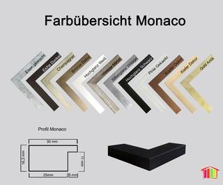 Bilderrahmen Monaco MDF 50 x 70 cm Farbwahl mit Acrylglas klar 1mm